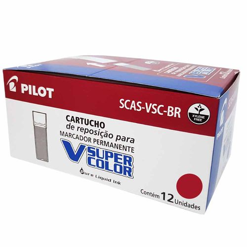 Refil-para-Marcador-Super-Color-Vermelho-Pilot-12-Unidades