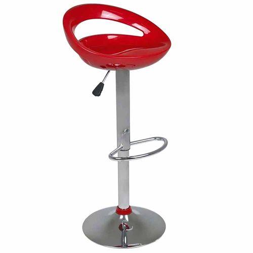 Banqueta-Lirio-Assento-em-ABS-com-Encosto-Vermelha-Mor