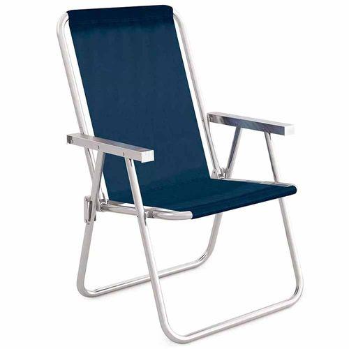 Cadeira-de-Praia-Aluminio-Alta-Conforto-Mor-Sannet-Azul