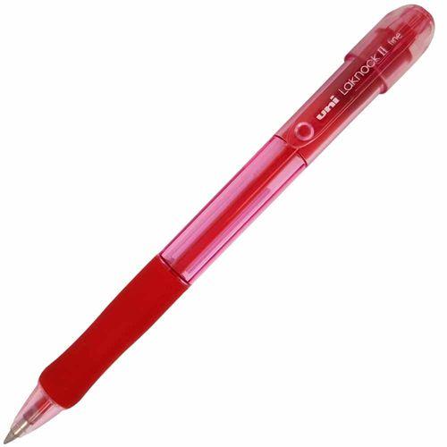 Caneta-Esferografica-Laknock-II-0.7-Vermelha-Uniball