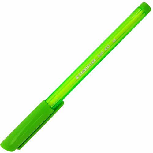 Caneta-Esferografica-Ball-432-M-Verde-Claro-Staedtler