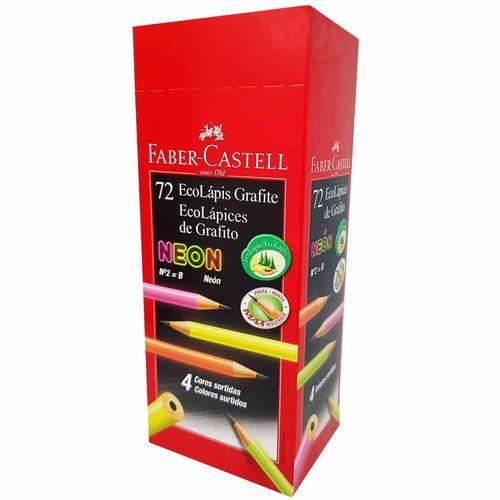 Lapis-Preto-Faber-Castell-MAX-Neon-N°2-72-Unidades