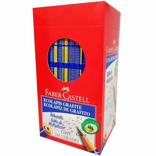 Lapis-Preto-Faber-Castell-Tabuada-Nº2-144-Unidades