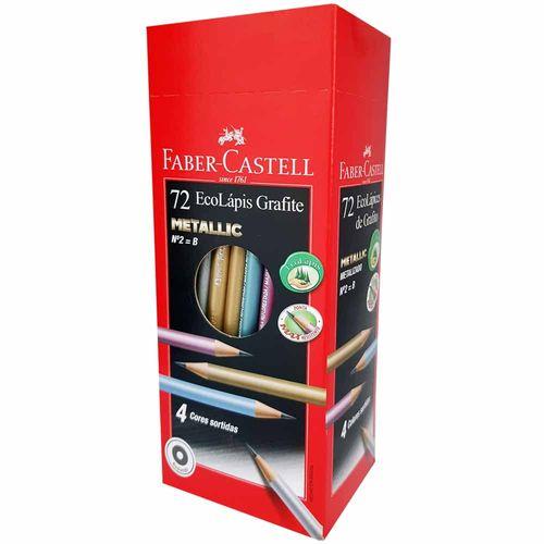Lapis-Preto-Faber-Castell-MAX-Metallic-Nº2-72-Unidades