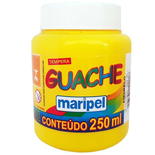 Tempera-Guache-250ml-Amarela-Maripel