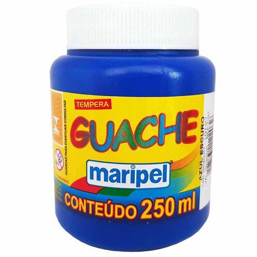 Tempera-Guache-250ml-Azul-Escuro-Maripel