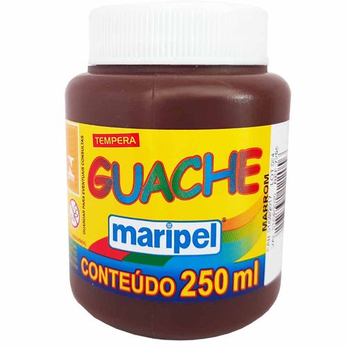 Tempera-Guache-250ml-Marrom-Maripel