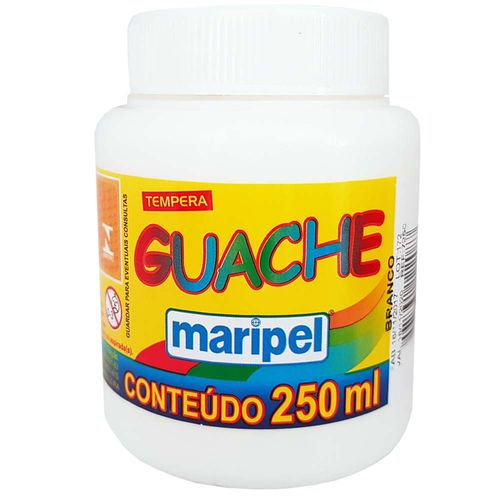 Tempera-Guache-250ml-Branca-Maripel