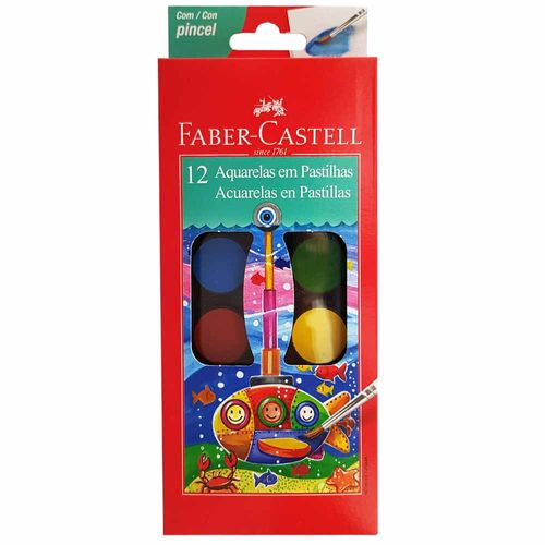 Aquarela-12-Cores-Faber-Castell