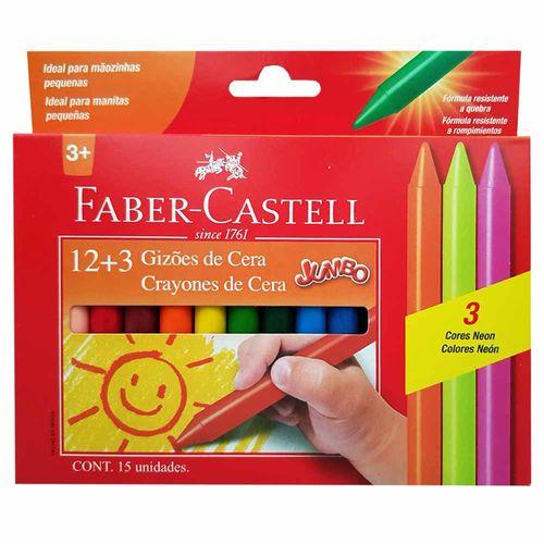 Giz-de-Cera-15-Cores-Jumbo-Faber-Castell