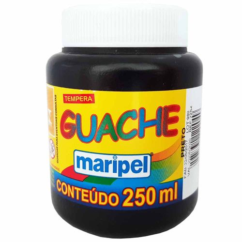 Tempera-Guache-250ml-Preto-Maripel