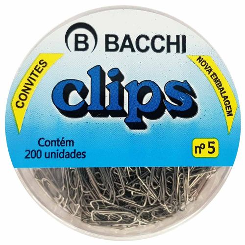 Clips-para-Papel-Nº5-Prata-Bacchi-200-Unidades