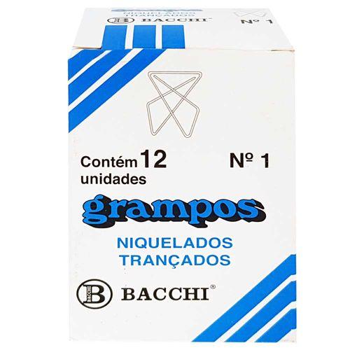 Grampo-Trancado-Nº1-Niquelado-Bacchi-12-Unidades