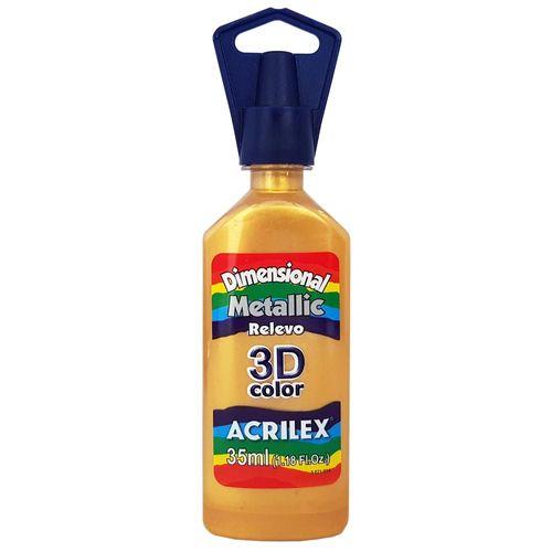 Tinta-Dimensional-3D-Metallic-35ml-532-Ouro-Acrilex