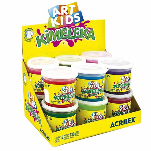 Kimeleka-Slime-180g-Art-Kids-Acrilex-12-Unidades
