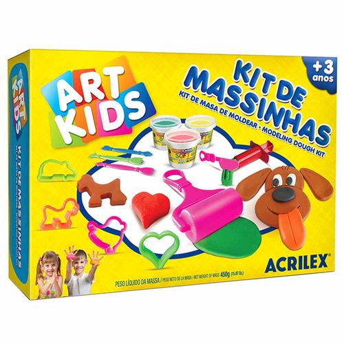 Kit-de-Massinha-de-Modelar-450g-Art-Kids-Acrilex