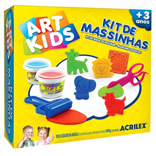 Kit-de-Massinha-de-Modelar-300g-Art-Kids-Acrilex