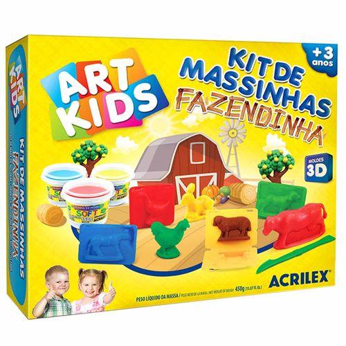 Kit-de-Massinha-de-Modelar-Fazendinha-450g-Art-Kids-Acrilex