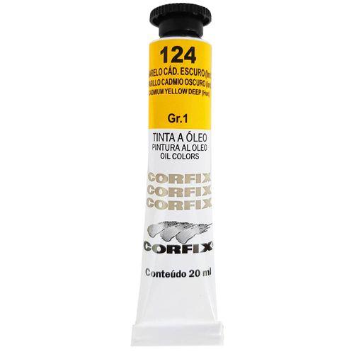 Tinta-Oleo-20ml-124-Amarelo-Cadmio-Escuro-Corfix