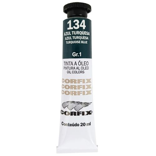 Tinta-Oleo-20ml-134-Azul-Turquesa-Corfix