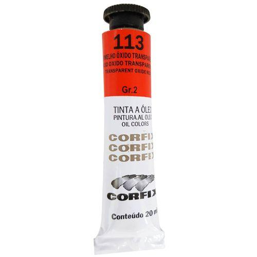 Tinta-Oleo-20ml-113-Vermelho-Oxido-Transparente-Corfix