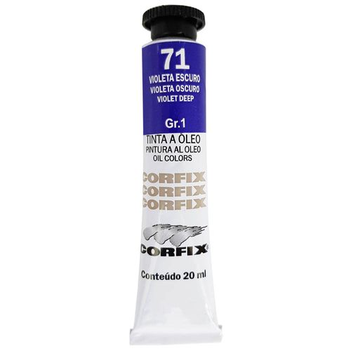 Tinta-Oleo-20ml-71-Violeta-Escuro-Corfix