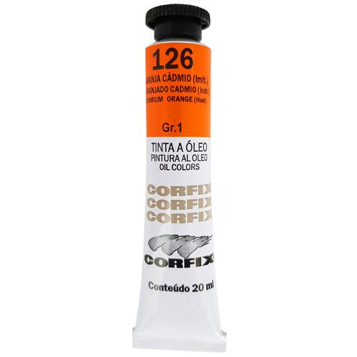 Tinta-Oleo-20ml-126-Laranja-Cadmio-Corfix