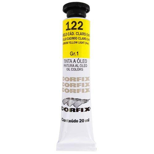 Tinta-Oleo-20ml-122-Amarelo-Cadmio-Claro-Corfix