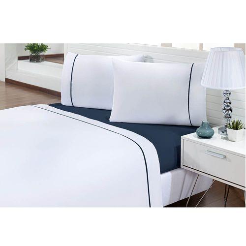 Jogo-de-Cama-Casal-200-Fios-Prime-One-Azul-Textil-Lar