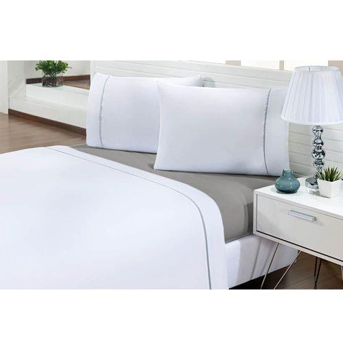 Jogo-de-Cama-Casal-200-Fios-Prime-One-Cinza-Claro-Textil-Lar