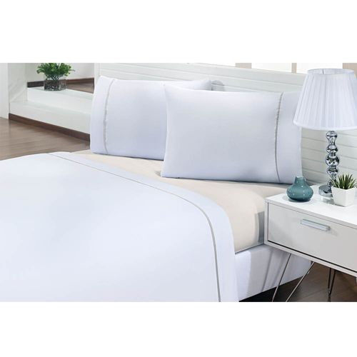 Jogo-de-Cama-Queen-200-Fios-Prime-One-Bege-Textil-Lar