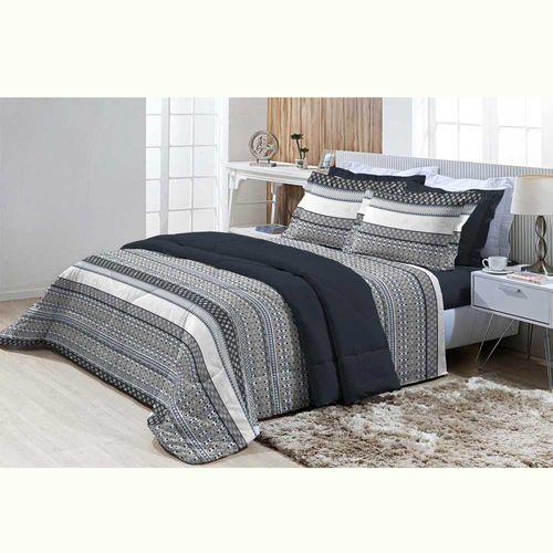 Jogo-de-Cama-Queen-200-Fios-Top-Confort-Cambridge-Azul-Textil-Lar