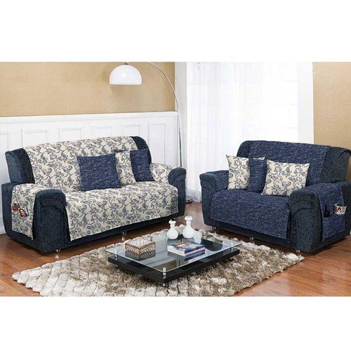 Capa-para-Sofa-Dupla-Face-Decore-Azul-Textil-Lar