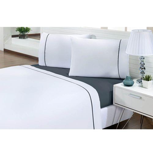 Jogo-de-Cama-Solteiro-200-Fios-Prime-One-Cinza-Escuro-Textil-Lar