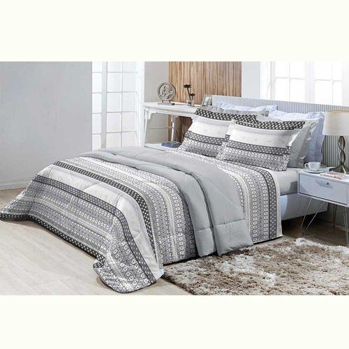 Jogo-de-Cama-Solteiro-200-Fios-Top-Confort-Cambridge-Cinza-Textil-Lar