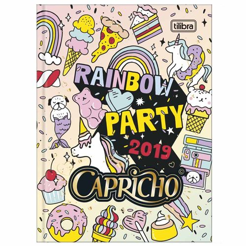 Agenda-2019-Tilibra-Capricho-Petit-Rainbow-Party