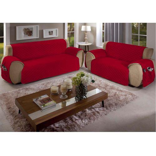 Capa-para-Sofa-Matelasse-Vermelha-Arte---Cazza