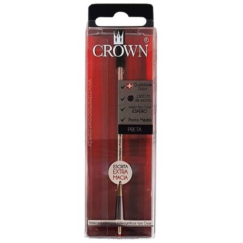Carga-para-Caneta-Crown-CA12009P-Preta