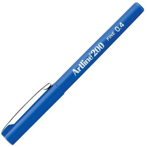 Caneta-Artline-200-Fine-0.4-Azul-Tilibra
