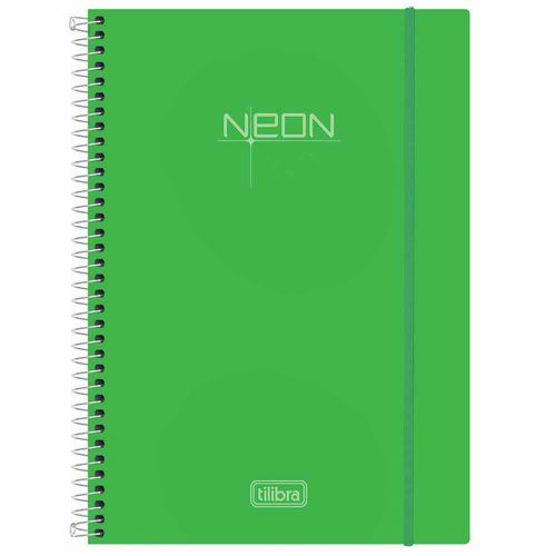 Caderno-Universitario-Neon-Verde-1-Materia-Tilibra