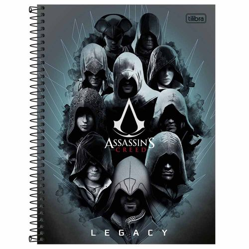 Caderno-Universitario-Assassin's-Creed-10-Materias-Tilibra