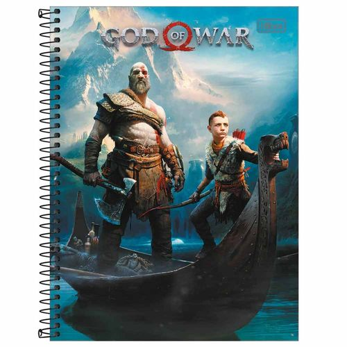 Caderno-Universitario-God-of-War-16-Materias-Tilibra