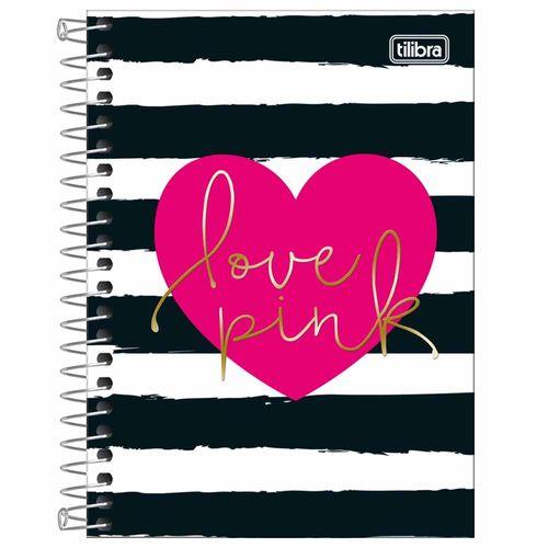 Caderneta-18-Love-Pink-80-Folhas-Tilibra