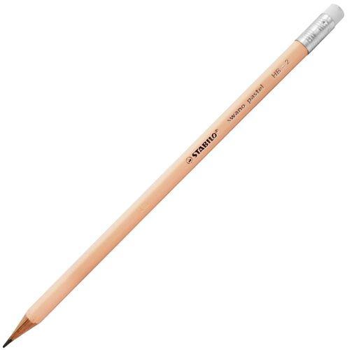 Lapis-Preto-Stabilo-Swano-Pastel-Pessego-HB2