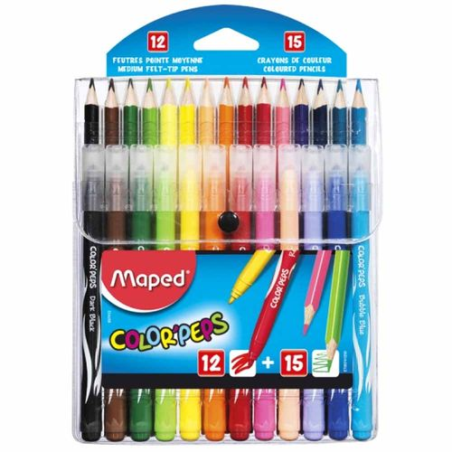 Kit-Lapis-de-Cor-15-Cores---Canetinha-12-Cores-Color-Peps-Maped