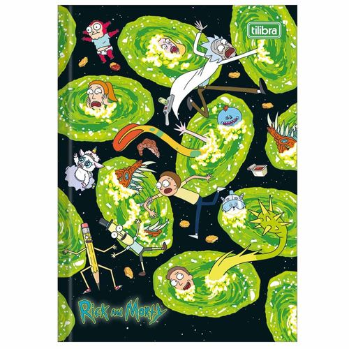 Caderno-Brochura-14-Rick-e-Morty-80-Folhas-Tilibra