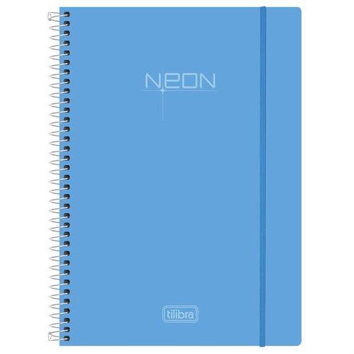 Caderno-Universitario-Neon-Azul-10-Materias-Tilibra