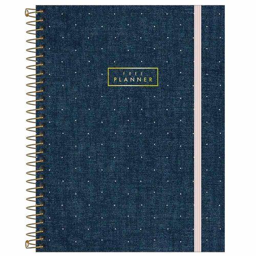 Agenda-Permanente-Tilibra-Denim-Free-Planner