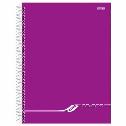 Caderno-Universitario-Colors-Roxo-10-Materias-Sao-Domingos