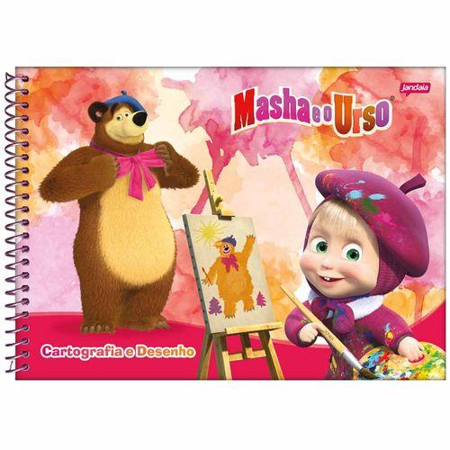 Caderno-de-Cartografia-Masha-e-o-Urso-96-Folhas-Jandaia